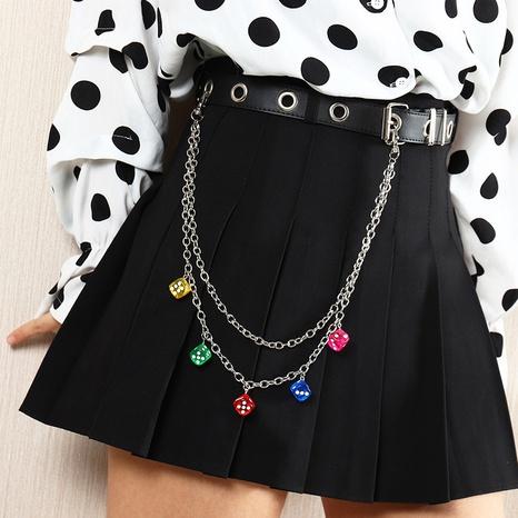 punk hip-hop metal trouser waist chain NHNZ302388's discount tags