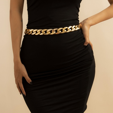 punk hip hop exaggerated simple layer thick chain  NHXR302397's discount tags