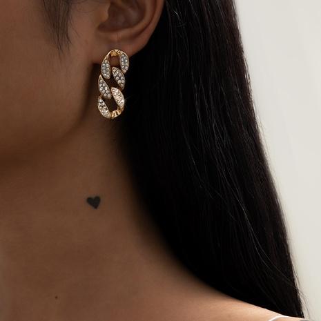 simple chain diamond earrings  NHXR302408's discount tags