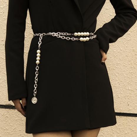 fashion imitation pearl belt waist chain NHXR302412's discount tags