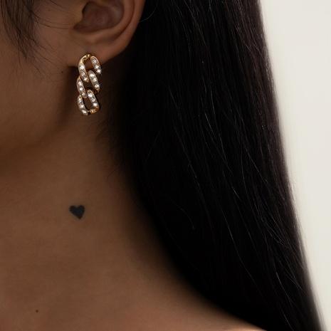 simple diamond chain earrings NHXR302415's discount tags