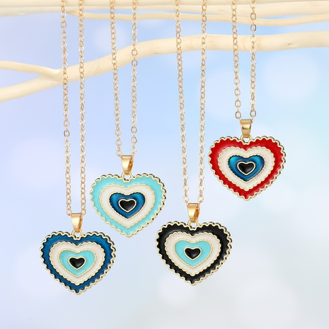creative heart pendant necklace  NHGO302422's discount tags
