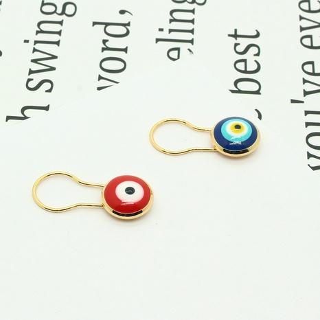 fashion dripping oil Turkey blue eye brooch NHGO302430's discount tags