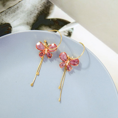 Korean butterfly earrings NHQD302491's discount tags