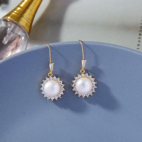 Pearl elegant retro earrings  NHQD302494's discount tags