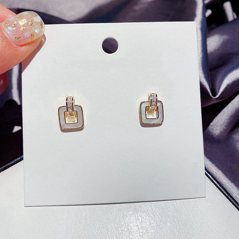 Korean S925 silver needle simple square earrings  NHCG302505's discount tags