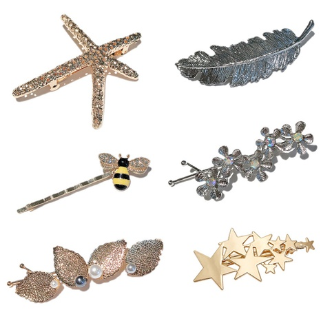 hot-selling simple fashion alloy bee word clip  NHDQ302525's discount tags