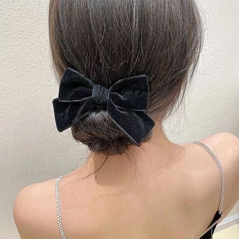 Korean velvet bow hair ring  NHDQ302528's discount tags