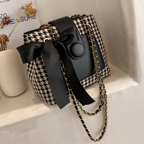 new trendy Korean fashion casual lattice chain bag NHLH302536's discount tags