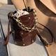 new trendy fashion diagonal bucket bag NHLH302540
