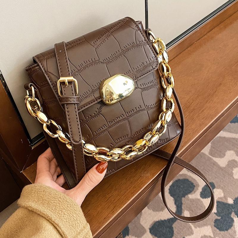 retro fashion stone pattern messenger bag NHLH302548
