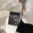 Fashion embroidered thread messenger small square bag NHRU302584
