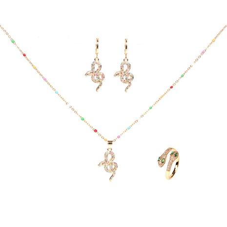 Diamant Schlange Halskette Ohrringe Set NHPY302622's discount tags