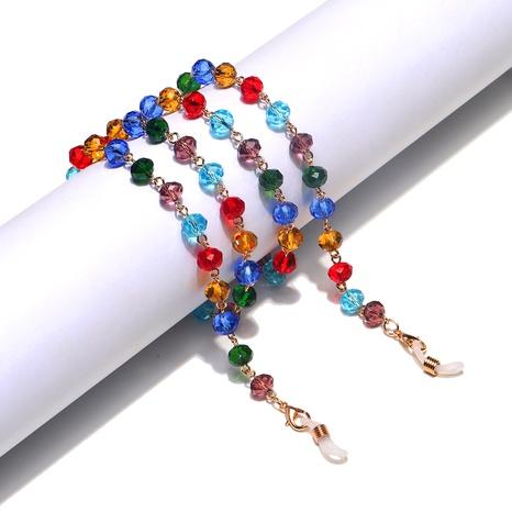 10mm Farbe Kristall rutschfeste handgefertigte Brillenkette NHBC302664's discount tags