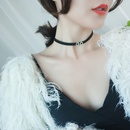 Fashionable black choker NHFT302677