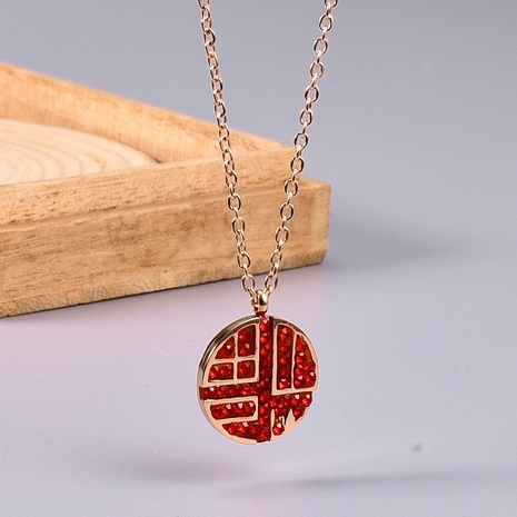 rose gold forbidden city Chinese element necklace NHAB302695's discount tags