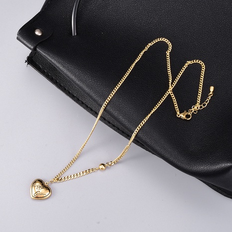 retro fashion heart pendant necklace NHAB302706's discount tags