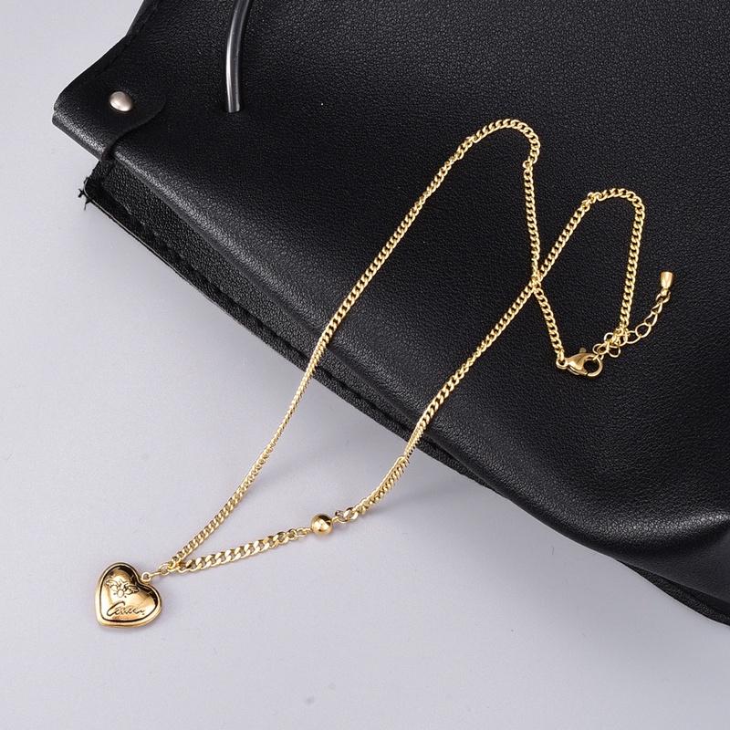 retro fashion heart pendant necklace NHAB302706