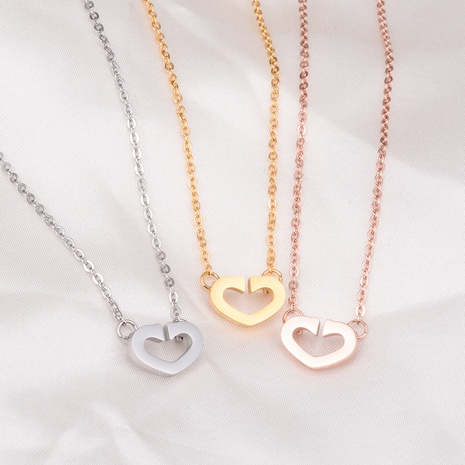 titanium steel heart necklace  NHAB302713's discount tags