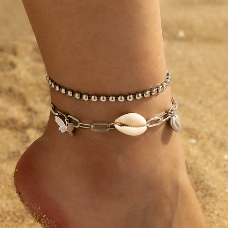 Boho Silver Butterfly Anklet NHGY291821's discount tags
