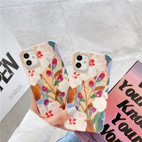 Coque de téléphone portable de fleur de peinture à l'huile rétro pour iPhone11promax 8plus coque souple anti-chute Apple XR silicone NHFI291158's discount tags