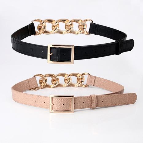 Cinturón de costura de eslabones de cadena de metal de tiro callejero de moda NHJN291170's discount tags