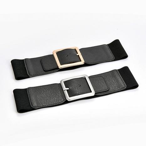 moda elástica cintura elástica señoras retro hebilla cinturón ancho NHPO291172's discount tags