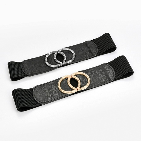 fashion ladies elastic elastic waistband retro all-match  belt NHPO291175's discount tags
