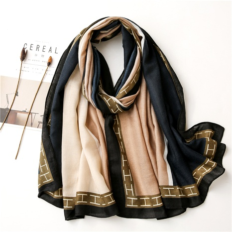Korean messy linen cotton  linen feel silk scarf  NHGD291235's discount tags