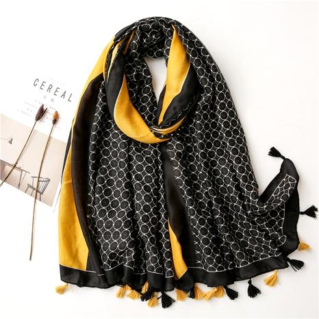 Pañuelo de gasa de bufanda salvaje de sección de mantón cálido de seda NHGD291237's discount tags