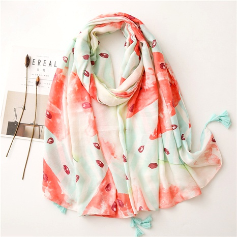 cotton and linen scarf  NHGD291256's discount tags
