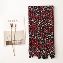 Fashion allmatch Western red leopard print long silk scarf  NHGD291257
