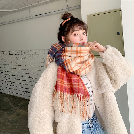 Korean wild   heart thick  imitation cashmere scarf NHCM291265's discount tags