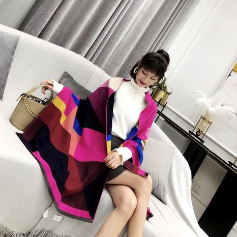 nueva bufanda de lana a cuadros cuadrados a juego NHCM291273's discount tags