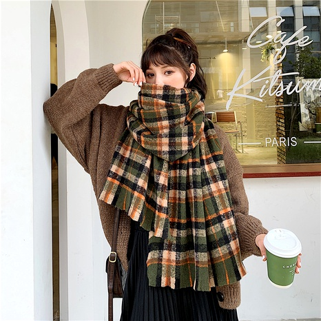 Bufanda de moda a cuadros larga salvaje coreana NHCM291288's discount tags