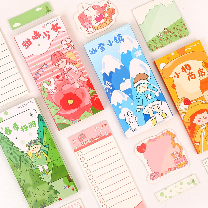 boxed cute cartoon convenient sticker  NHHE291292