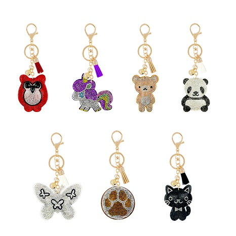 nueva serie animal llavero de diamantes de terciopelo coreano NHAP291343's discount tags