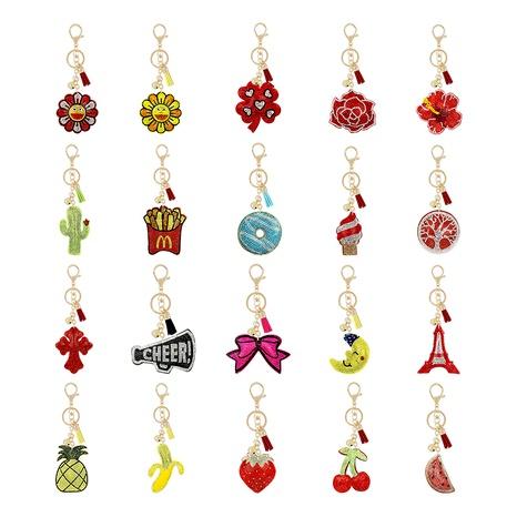 Porte-clés français en flanelle ornée de diamants NHAP291344's discount tags