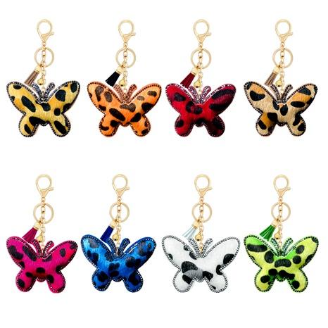 Llavero Mariposa Leopardo Diamante Terciopelo NHAP291346's discount tags