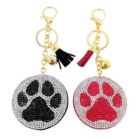 Cute cartoon Korean velvet diamond bear paw keychain  NHAP291347's discount tags