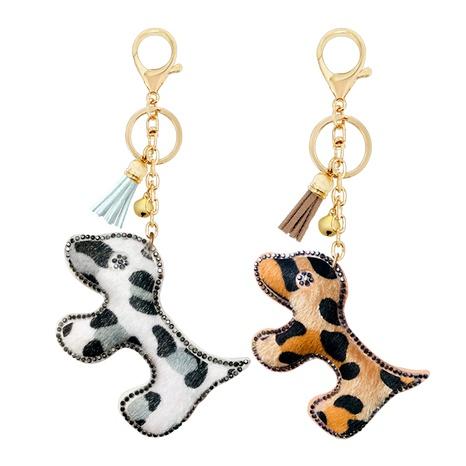 llavero con estampado de leopardo tachonado de diamantes NHAP291351's discount tags