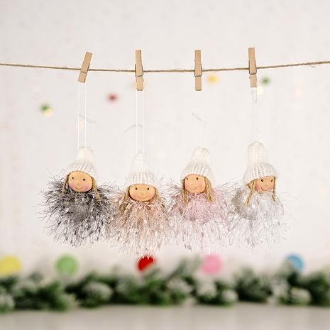 Decoración navideña colgante niña mullida NHHB291385's discount tags