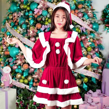 Vestido navideño con mantón NHHB291389's discount tags