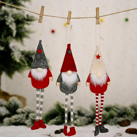 Christmas ornaments forest old man hanging legs doll pendant  NHHB291395's discount tags