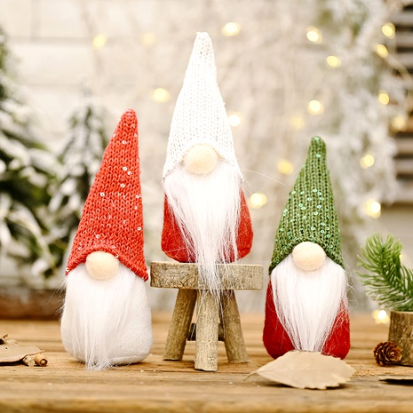 sequined hat doll Christmas decoration  NHHB291404's discount tags