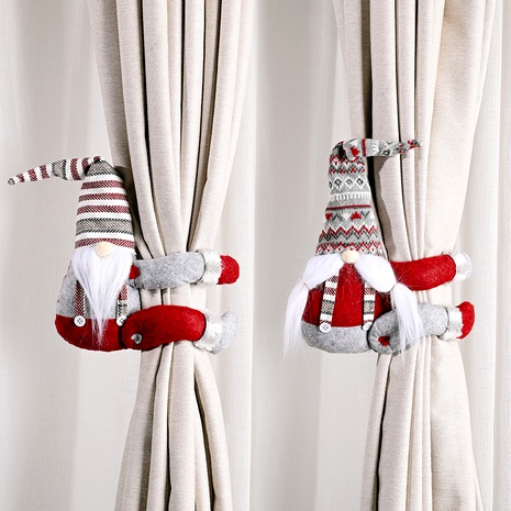 Christmas decoration striped hat curtain buckle NHHB291407's discount tags