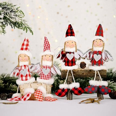 Christmas Plaid Doll Pendant  NHHB291408's discount tags