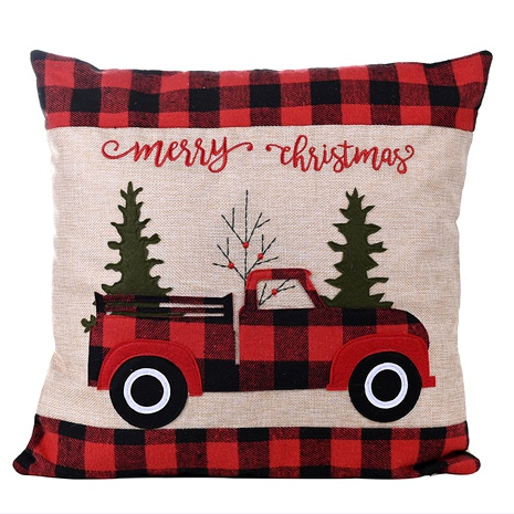 Christmas red and black car square pillowcase NHHB291409's discount tags