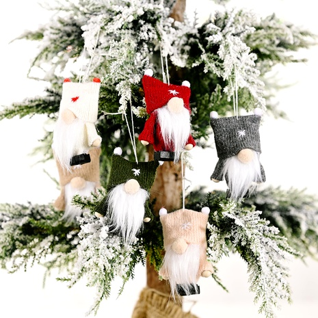 Christmas Knitted Faceless Doll Ornaments NHHB291415's discount tags