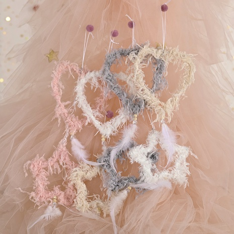 plush feather five-pointed star pendant Christmas decoration  NHHB291414's discount tags